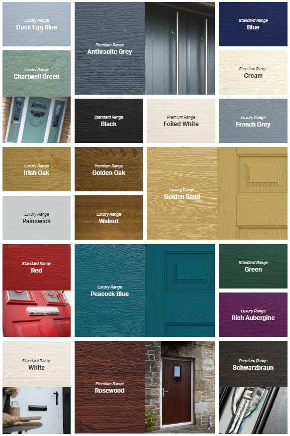 Colour Range of Doors Cardiff